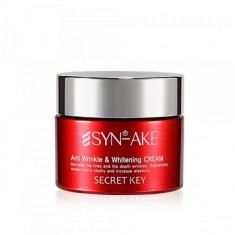 крем для лица с пептидом змеиного яда secret key syn-ake anti wrinkle & whitening cream