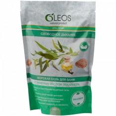 Олеос морская соль для ванн Свободное дыхание с эфирным маслом эфкалипта 500гр Oleos