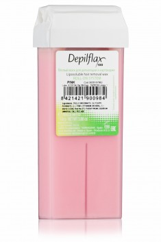DEPILFLAX 100 Воск для депиляции в картридже, розовый-сливочный 110 г