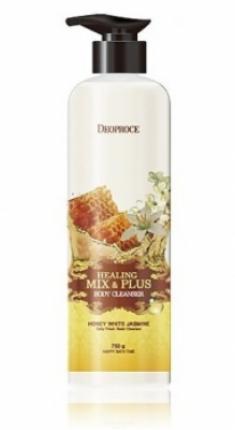 Гель для душа Ароматерапия - Мед и белый жасмин DEOPROCE Healing mix & plus body cleanser honey white jasmine 750г