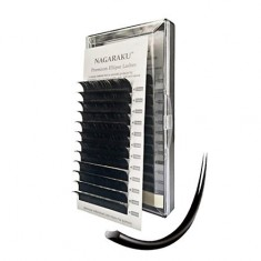 NAGARAKU, Ресницы на ленте Premium Ellips, 11/0,15 мм, D-изгиб