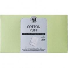 Спонжи косметические из 100% хлопка The Saem Cotton Puff 80шт