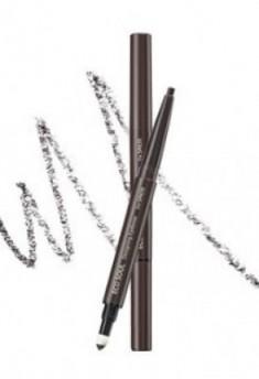 Карандаш для бровей 3 в1 THE SAEM Eco Soul Designing Eyebrow 02 Dark Brown 0,2г+0,12г