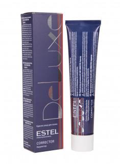 ESTEL PROFESSIONAL 0/22 краска-корректор для волос, зеленый / DE LUXE Correct 60 мл