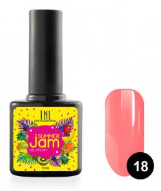 TNL PROFESSIONAL 18 гель-лак для ногтей, неоновый светло-коралловый / Summer Jam 10 мл