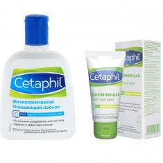 Cetaphil Набор: Лосьон физиологический 235мл+крем защитный увлажняющий 50мл Сетафил