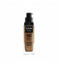 NYX PROFESSIONAL MAKEUP Тональная основа Can't Stop Won't Stop Full Coverage Foundation - Neutral Tan 127
