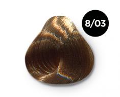 OLLIN PROFESSIONAL 8/03 краска для волос, светло-русый прозрачно-золотистый / OLLIN COLOR 100 мл