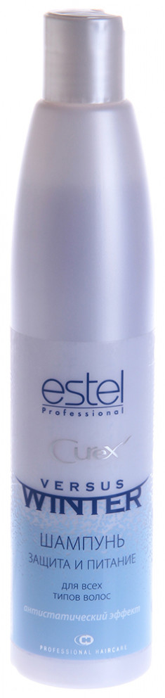 ESTEL PROFESSIONAL Шампунь с антистатическим эффектом для волос Защита и питание / Curex Versus Winter 300 мл