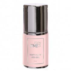 E.mi, soft pink gel, однофазный камуфлирующий скульптурный гель, в бутылочке, 15 г