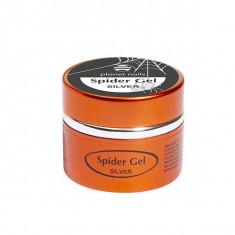 Planet nails, spider gel, гель-паутинка, серебряная, 5 г