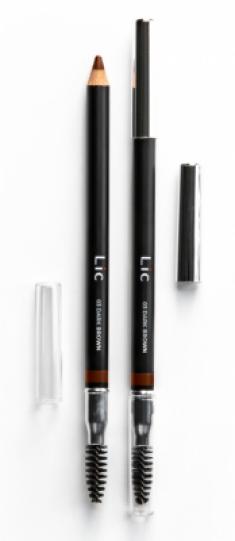Карандаш пудровый для бровей Lic Eyebrow pencil 03 Dark Brown