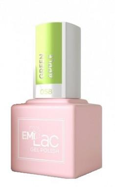 E.MI 058 PA гель-лак для ногтей, Зеленое яблоко / E.MiLac 6 мл