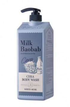 Гель для душа с керамидами, с ароматом белого мускуса MILK BAOBAB Cera Body Wash White Musk 1200 мл